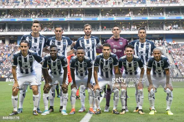 Players of Monterrey pose for the team photo prior to the 9th round match between Monterrey and Atlas as part of the Torneo Apertura 2017 Liga MX at...