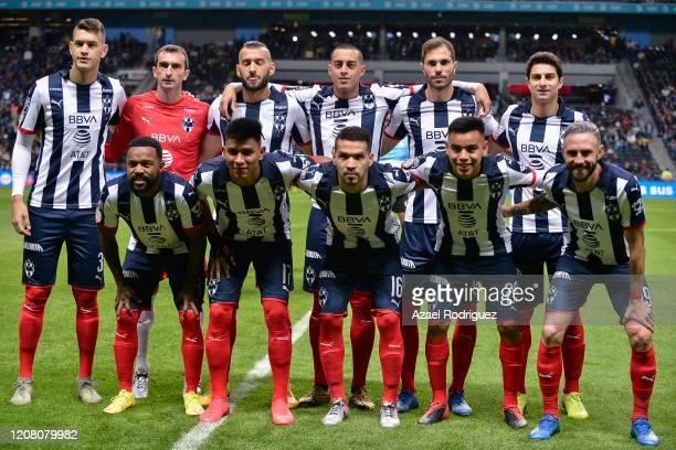 Players of Monterrey pose prior the 7th round match between Monterrey and America as part of the Torneo Clausura 2020 Liga MX at BBVA Stadium on...