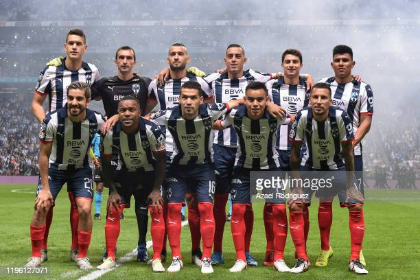 Players of Monterrey pose prior the Final first leg match between Monterrey and America as part of the Torneo Apertura 2019 Liga MX at BBVA Stadium...