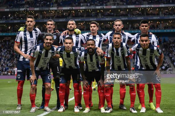 Players of Monterrey pose prior the Semifinals first leg match between Monterrey and Necaxa as part of the Torneo Apertura 2019 Liga MX at BBVA...