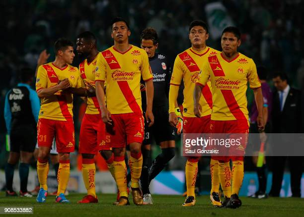 Players of Morelia look dejected after the 3rd round match between Santos Laguna and Morelia as part of the Torneo Clausura 2018 Liga MX at Corona...