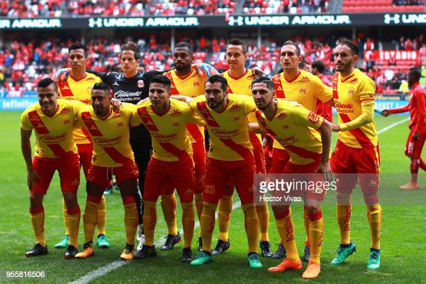 Players of Morelia pose during the quarter finals second leg match between Toluca and Morelia as part of the Torneo Clausura 2018 Liga MX at Nemesio...
