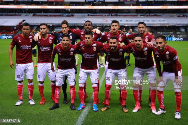 Players of Morelia pose prior the 7th round match between America and Monarcas as part of the Torneo Clausura 2018 Liga MX at Azteca Stadium on...