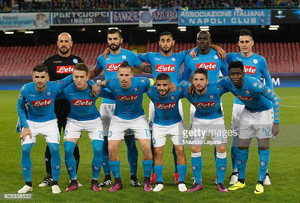 Players of Napoli pose for photo prior the UEFA Champions League match between SSC Napoli and FC Dynamo Kyiv at Stadio San Paolo on November 23 2016...