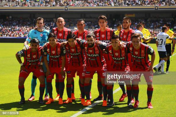 Players of Necaxa pose prior the 13th round match between Pumas UNAM and Necaxa as part of the Torneo Clausura 2018 Liga MX at Olimpico Universitario...