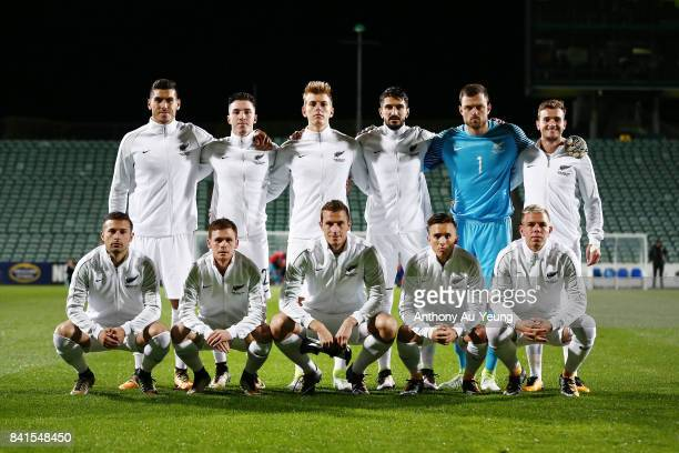 Players of New Zealand pose for a team photo prior to the 2018 FIFA World Cup Qualifier match between the New Zealand All Whites and Solomon Island...