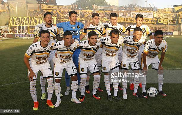 Players of Olimpo pose for a photo prior the match between Olimpo and River Plate as part of Torneo Primera Division 2016/17 at Roberto Natalio...
