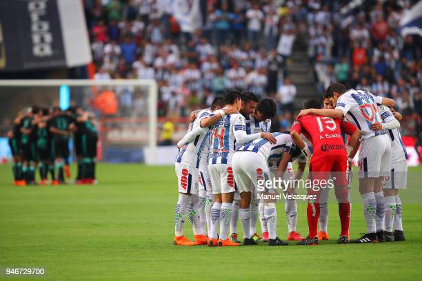 Players of Pachuca gather prior the 15th round match between Pachuca and Santos Laguna as part of the Torneo Clausura 2018 Liga MX at Hidalgo Stadium...