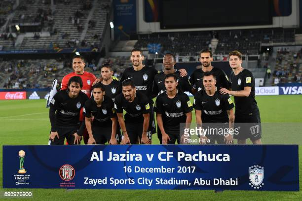 Players of Pachuca line up for the team photos prior to the FIFA Club World Cup UAE 2017 third place play off match between Al Jazira and CF Pachuca...