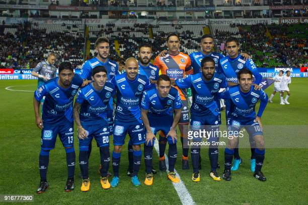 Players of Pachuca pose for a photo prior the 6th round match between Leon and Puebla as part of the Torneo Clausura 2018 Liga MX at Leon Stadium on...