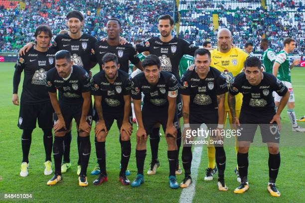 Players of Pachuca pose for a photo prior the 9th round match between Leon and Pachuca as part of the Torneo Apertura 2017 Liga MX at Leon Stadium on...