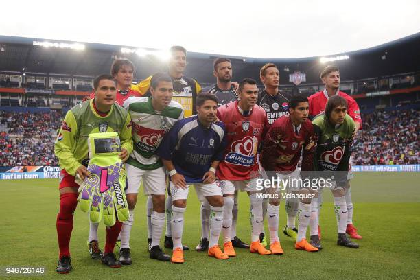 Players of Pachuca pose prior the 15th round match between Pachuca and Santos Laguna as part of the Torneo Clausura 2018 Liga MX at Hidalgo Stadium...
