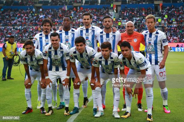 Players of Pachuca pose prior the 8th round match between Pachuca and Chivas as part of the Torneo Apertura 2017 Liga MX at Hidalgo Stadium on...