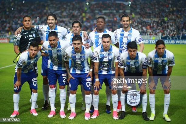 Players of Pachuca pose prior the semifinals second leg match between Pachuca and FC Dallas as part of the CONCACAF Champions League 2017 at Hidalgo...