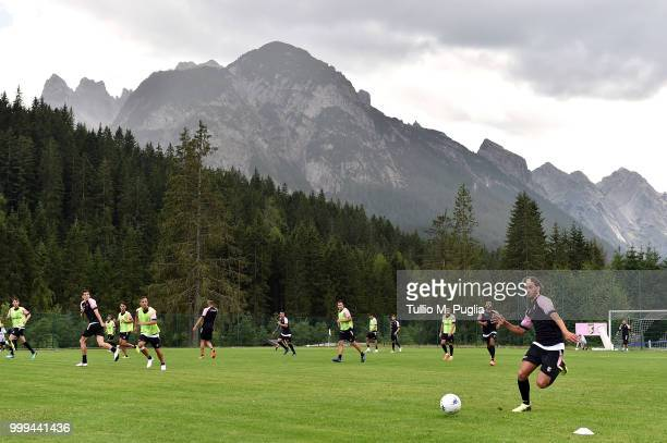 Simone Lo Faso in action during a training session at the US Citta' di Palermo training camp on July 15 2018 in Belluno Italy