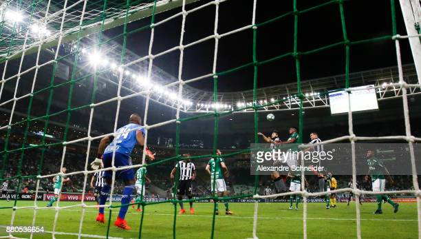 Players of Palmeiras and of Botafogo in action during the match for the Brasileirao Series A 2017 at Allianz Parque Stadium on November 27 2017 in...