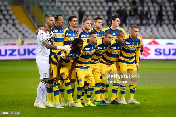 Players of Parma Calcio pose for a team photo prior to the Serie A football match between Torino FC and Parma Calcio Parma Calcio won 21 over Torino...
