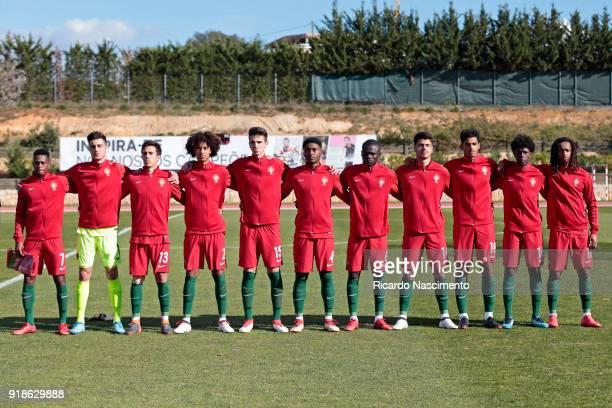 Players of Portugal U17 Umaro Embalo Goncalo Tabuaco Francisco Saldanha Tomas Tavares Bernardo Silva Levi Faustino Henrique Jocu Joao Ferreira...