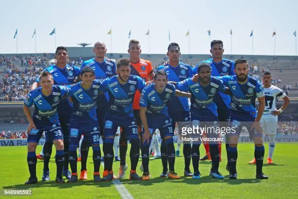 Players of Puebla pose prior the 15th round match between Pumas UNAM and Puebla as part of the Torneo Clausura 2018 Liga MX at Olimpico Universitario...