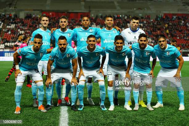Players of Queretaro pose prior to the 12th round match between Tijuana and Queretaro as part of the Torneo Apertura 2018 Liga MX at Caliente Stadium...