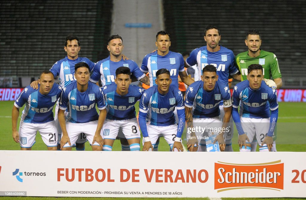 3889517e228e7 Players of Racing Club pose for a photo pior a friendly match ...