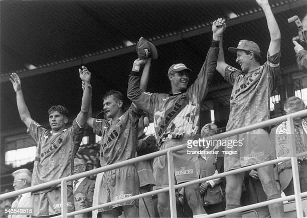Players of Rapid Wien after winning the cup final vs Leoben Ernst Happel Stadion Final Score 10 Vienna 5th June 1995 Photograph