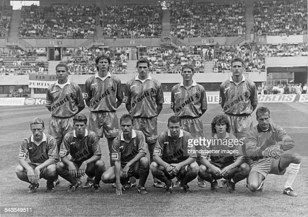 Players of Rapid Wien at the cup final vs Leoben Ernst Happel Stadion Final Score 10 Vienna 5th June 1995 Photograph