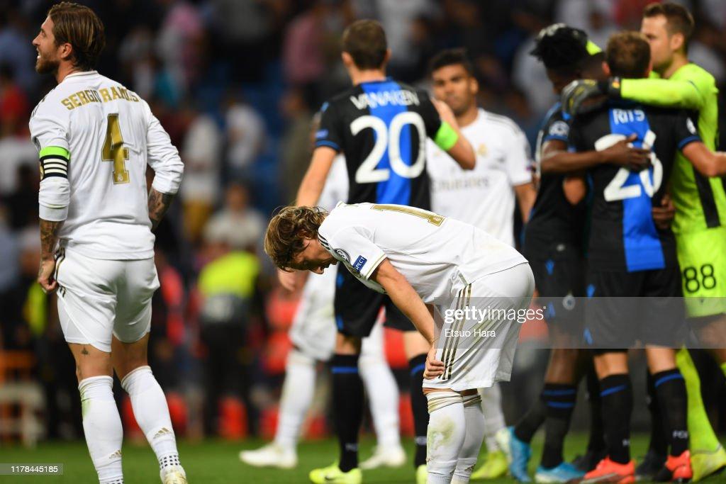 Real Madrid v Club Brugge KV: Group A - UEFA Champions League : Foto jornalística