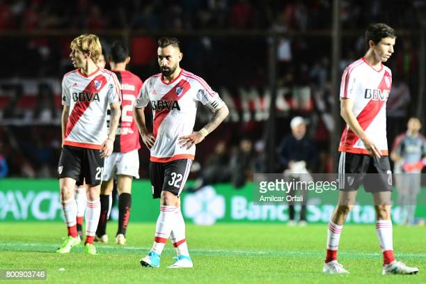 Players of River Plate leave the field after a match between Colon and River Plate as part of Torneo Primera Division 2016/17 at Brigadier Lopez...