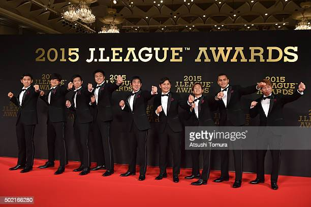 Players of Sanfrecce Hiroshima attend the J League Awards 2015 on December 21 2015 in Tokyo Japan