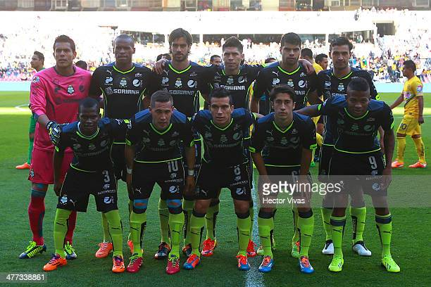 Players of Santos pose for a photo before a match between America and Santos Laguna as part of the 10th round Clausura 2014 Liga MX at Azteca Stadium...