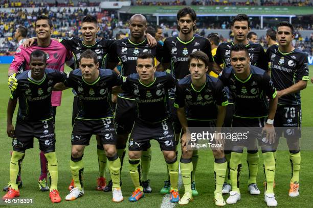 Players of Santos pose for pictures before the Quarterfinal first leg match between America and Santos Laguna as part of the Clausura 2014 Liga MX...