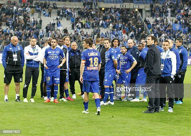 Player's of SC Bastia are disapointed after defeact during the French League Cup Final between Paris SaintGermain and SC bastia FC at Stade de France...