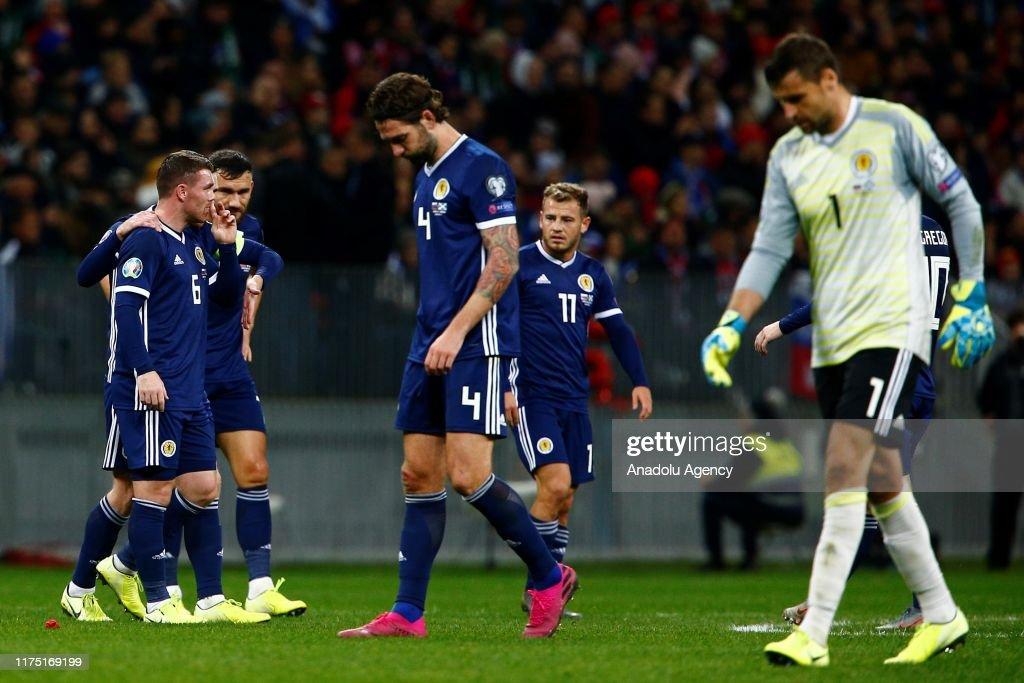 Russia vs Scotland - UEFA 2020 Qualifying round : News Photo