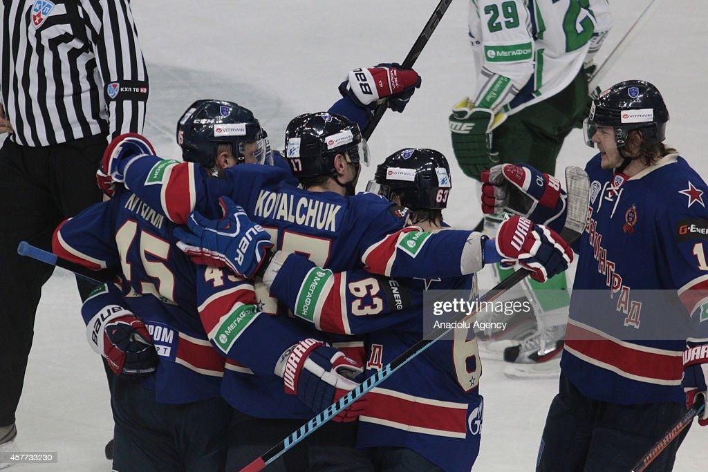 SKA St. Petersburg v Salavat Yulaev Ufa: Kontinental Ice Hockey League : News Photo
