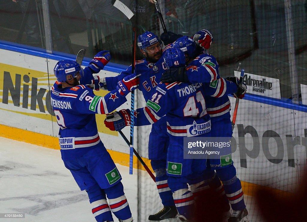 HC SKA - AK Bars Kazan Gagarin cup final : News Photo