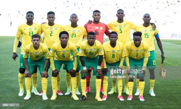 Players of South Africa pose for a picture during the FIFA U20 World Cup Korea Republic 2017 group D match between South Africa and Japan at Suwon...