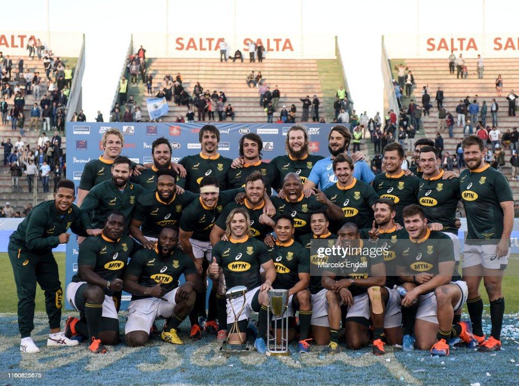 Argentina v South Africa - 2019 Rugby Championship : Fotografía de noticias
