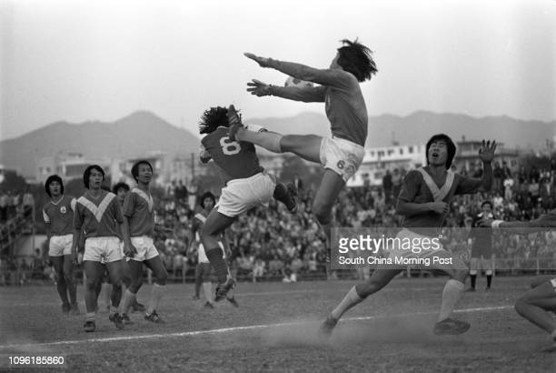 Players of South China and Sea Bee in action during a Senior Shield clash at the Police Ground Stadium Sea Bee won 43 on penalties after a goalless...