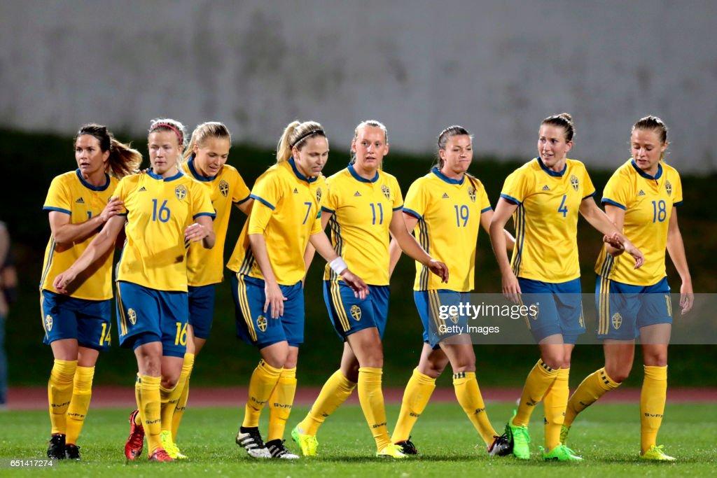 Sweden vs Russia Women, Algarve Cup 2017 : News Photo