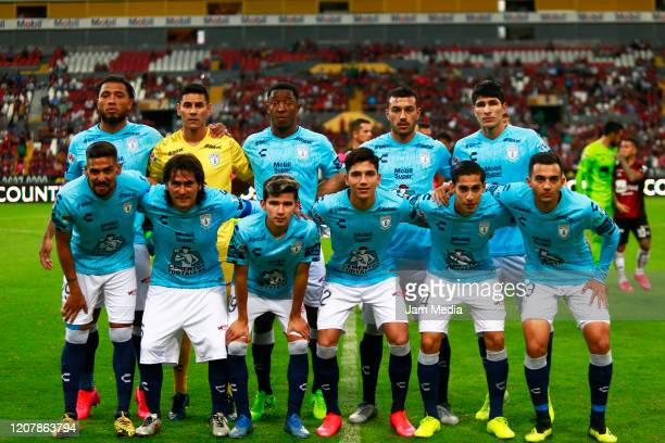 Players of team Pachuca pose prior the 7th round match between Atlas and Pachuca as part of the Torneo Clausura 2020 Liga MX at Jalisco Stadium on...