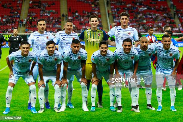 Players of team Veracruz pose during the 19th round match between Chivas and Veracruz as part of the Torneo Apertura 2019 Liga MX at Akron Stadium on...