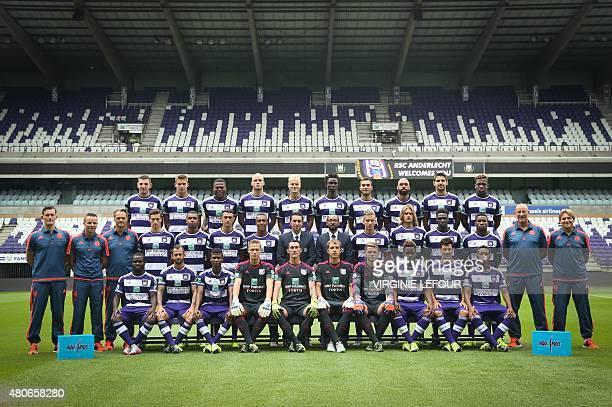 Players of the Belgian football team RSC Anderlecht Michael Heylen Leander Dendoncker Chancel Mbemba Bram Nuytinck Olivier Deschacht Idrissa Sylla...