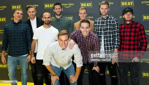 Players of the football club Union Berlin attend the premiere of the Amazon Original Series 'BEAT' at Kraftwerk Mitte on November 7 2018 in Berlin...