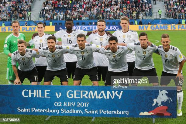 Players of the Germany national football team during the 2017 FIFA Confederations Cup final match between Chile and Germany at Saint Petersburg...