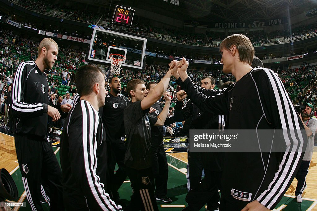 Players of the Minnesota Timberwolves huddle up before facing the Utah Jazz at Energy Solutions Arena on January 2, 2013 in Salt Lake City, Utah.
