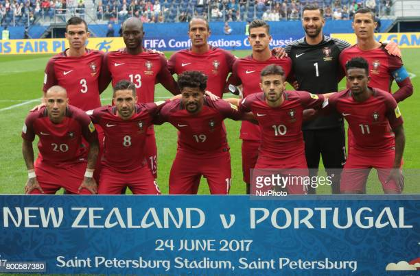 Players of the Portugal national the 2017 FIFA Confederations Cup match first stage Group A between New Zealand and Portugal at Saint Petersburg...