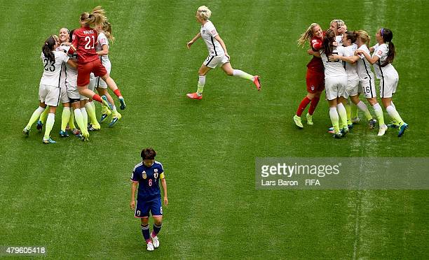 Players of the USA celebrates after winning the FIFA Women's World Cup 2015 Final between USA and Japan at BC Place Stadium on July 5, 2015 in...