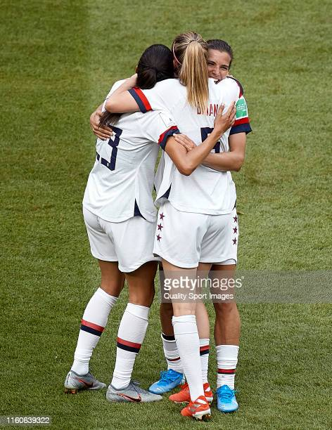 Players of the USA celebrating the victory following the 2019 FIFA Women's World Cup France Final match between The United State of America and The...