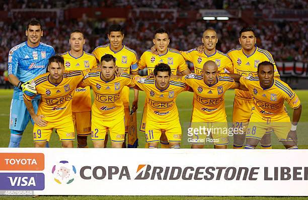 Players of Tigres pose for a photo prior a match between River Plate and Tigres as part of second round of Group 6 of Copa Bridgestone Libertadores...